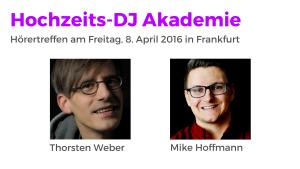 Treffe uns auf der Musikmesse in Frankfurt, 8. April 2016 Hörertreffen