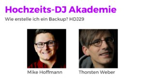 Wie erstelle ich ein Backup? HDJ29