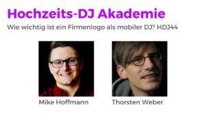 Wie wichtig ist ein Firmenlogo als mobiler DJ? HDJ44