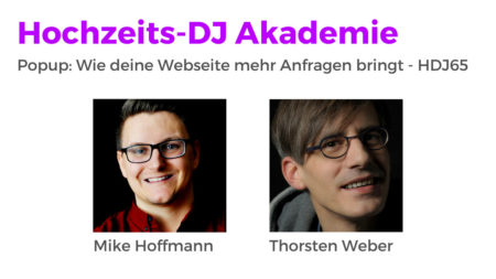 Popup: Wie deine Webseite mehr Anfragen bringt - HDJ65 Hochzeits-DJ Akademie Podcast