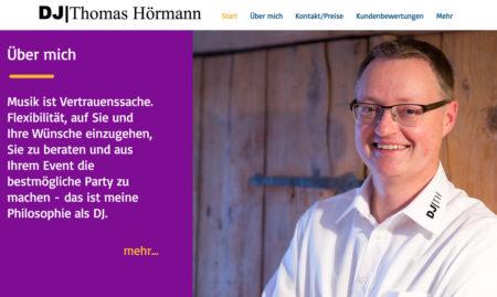 Webseite von DJ Thomas Hörmann