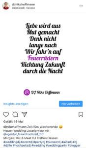 Lyrics Nena - Irgendwie, Irgendwo, Irgendwann (1984), Mike Instagram Post