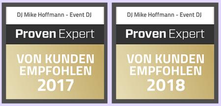 ProvenExpert Siegel auf Mikes Website
